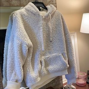 Fuzzy pullover-reversible.